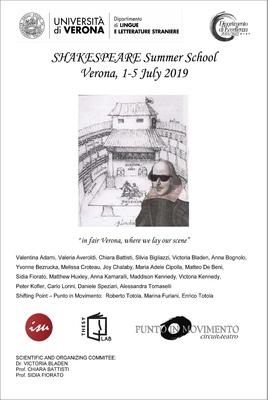 SHAKESPEARE Summer School in Verona, Italy, 1-5 July 2019 - 1-5 July 2019