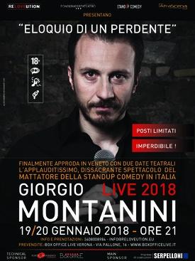 GIORGIO MONTANINI - 19 e 20 GENNAIO 2018