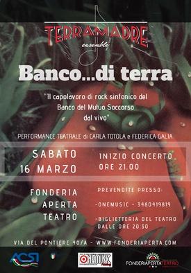TERRAMADRE ENSEMBLE in BANCO DI TERRA - 16 marzo 2019