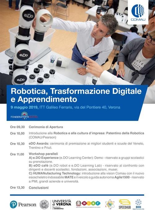Robotica, Trasformazione Digitale e Apprendimento - Giovedì 9 maggio 2019
